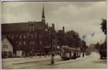 AK Foto Frankfurt (Oder) Platz der Republik mit Straßenbahn 1959
