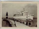 AK Foto Eisenbahnfährschiff MS Warnemünde 1960
