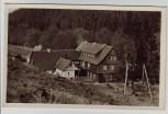 AK Foto Oberhof Waldkaffee untere Schweizerhütte Thüringen 1957