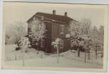 AK Foto Oberhof Forsthaus Sattelbach im Winter Thüringen 1950