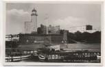 AK Foto Kolberg Leuchtturm mit Schiffen und Haus Kołobrzeg Pommern Polen 1935