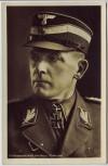 AK Foto SA Gruppenführer Bernhard Hofmann Ritterkreuzträger Schirmmütze 2.WK 1942 RAR
