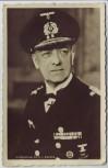 AK Foto Großadmiral Erich Raeder Ritterkreuzträger Schirmmütze 2.WK 1940 RAR