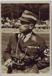 AK Foto Autograph Korpsführer Adolf Hühnlein NSKK in Uniform Feldstecher Schirmmütze signiert Autogramm 1935 RAR