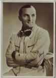 AK Foto Autograph Hermann Lang Rennfahrer Mercedes Silberpfeil signiert Autogramm 1935 RAR