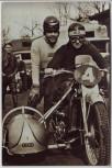AK Foto Hans Schumann Rennfahrer Motorrad Seitenwagen Auto-Union DKW 1937
