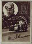 AK Foto Autograph Hans Kahrmann Rennfahrer Auto Union DKW Motorrad Seitenwagen signiert Autogramm 1936 RAR