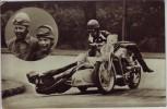 AK Foto Hans Kahrmann Rennfahrer Auto Union DKW Motorrad Seitenwagen 1937 RAR