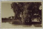 AK Foto Weßling Blick auf Cafe am See Oberbayern 1940