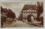 AK Foto Landau in der Pfalz Marktstraße mit Menschen 1930