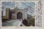 AK Mannheim Blick auf die Rheinbrücke 1901