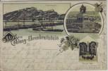 AK Gruss aus Koblenz Ehrenbreitstein Denkmal 1866 1899