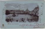 AK Gruss aus Landau in der Pfalz Paradeplatz Mondschein 1900