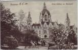 AK Hannover Neues Rathaus am Maschpark mit Menschen 1910