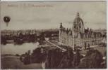 AK Hannover Maschpark und Rathaus mit Ballon 1915