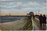 AK Cuxhafen Cuxhaven Seepavillon mit Menschen 1908