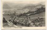 AK Foto Flugzeugaufnahme von Blaichach im Allgäu Bahnpoststempel 1943