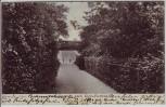 AK Hamburg Altona Fußweg nach Klein Flottbek Brücke Dame 1910