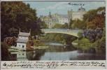 AK Riga Bastei-Brücke Gaswerk Lettland 1906