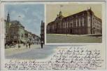 AK Karlsruhe Kaiserstrasse Moninger Eck Hauptpost 1907