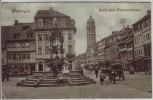 AK Göttingen Markt und Weenderstrasse viele Menschen 1914