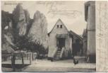 AK Rheingrafenstein mit Haus und Hahn b. Bad Münster am Stein Bad Kreuznach 1905