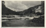 AK Foto Chrysopraswasserfall bei Gewitterstimmung Schwarzatal Thüringer Wald b. Bad Blankenburg Schwarza 1936