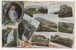 AK Riesengebirge mit Rübezahl und 8 Bauden Schlesien 1915