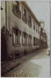 AK Foto Freiburg im Breisgau Hausansicht Nr. 3 Schuhmacher Straßenansicht 1910