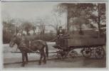 AK Foto Freiburg im Breisgau Pferdekarren Kohlenhandlung Specht Wilhelmstraße 15 1920