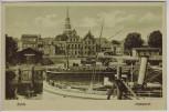 AK Stade Alter Hafenpartie mit Schiff Niedersachsen 1920