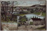 AK Gruss aus Ammelshain Ortsansicht mit Gasthof bei Naunhof 1909
