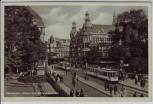 AK Foto Düsseldorf Albert Leo Schlagepeter-Platz Straßenbahn 1940