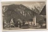 AK Foto Bayrischzell Ortsansicht mit Kirche und Denkmal 1935