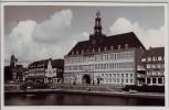 AK Foto Emden Blick auf Rathaus 1962