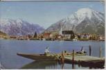 AK Tegernsee Überfahrt mit Blick auf Rottach-Egern und Wallberg 1936