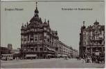AK Dresden Altstadt Kaiserpalast mit Amalienstrasse 1911