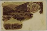 Litho Gruss aus Kössen in Tirol Kitzbühel Österreich 1900 RAR