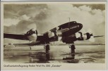 AK Foto Verkehrsflugzeug Focke-Wulf Fw 200 Condor beim Start 1940