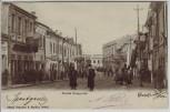 AK Galați Galatz Strada Brasoveni Straßenansicht mit Menschen Rumänien 1904 RAR