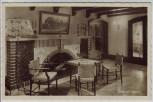 AK Foto Carlsfeld Weitersglashütte Ferienheim Hugo Reichardt Diele mit Kamin bei Eibenstock 1950