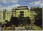 AK Foto Aschaffenburg Blick auf Hotel Aschaffenburger Hof viele Autos 1970