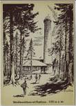 Künstler-AK Stöcklewaldturm mit Rasthaus Triberg Schwarzwald 1950
