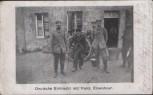AK Deutsche Eintracht mit franz. Einwohner Feldpost 1915