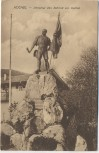 AK Kochel am See Denkmal des Schmid von Kochel Bahnpoststempel 1924