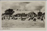 AK Foto Ostseebad Dahme in Holstein Strand mit Fahnen 1943