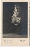 AK Foto Winter in Lindau am Bodensee Christbaum an der Haidenmauer 1940