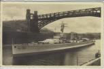 AK Foto Kiel Panzerschiff Deutschland im Kaiser-Wilhelm-Kanal 1935