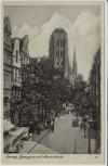 AK Danzig Gdańsk Jopengasse mit Marienkirche Pommern Polen 1935