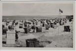 AK Foto Stolpmünde Ustka Blick auf Strand mit Fahne Pommern Polen 1940